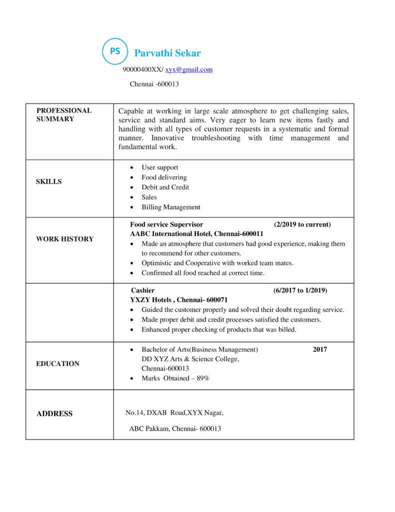 different types of resumes resume formats sample models for all jobs experience model one Resume Resume For All Types Of Jobs