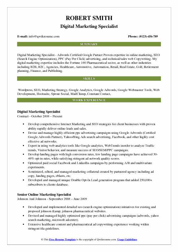 digital marketing specialist resume samples qwikresume pay for pdf science teacher cover Resume Pay For Resume Online