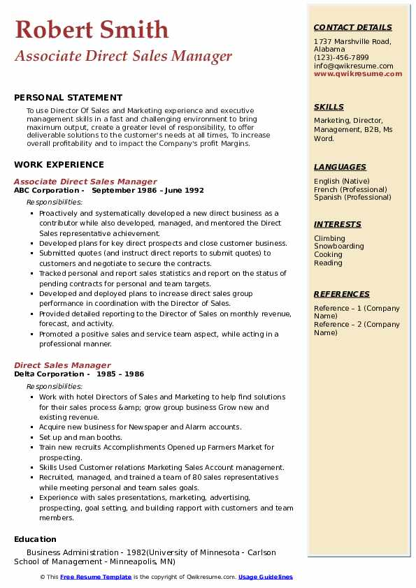 direct manager resume samples qwikresume carlson school of management template pdf Resume Carlson School Of Management Resume Template
