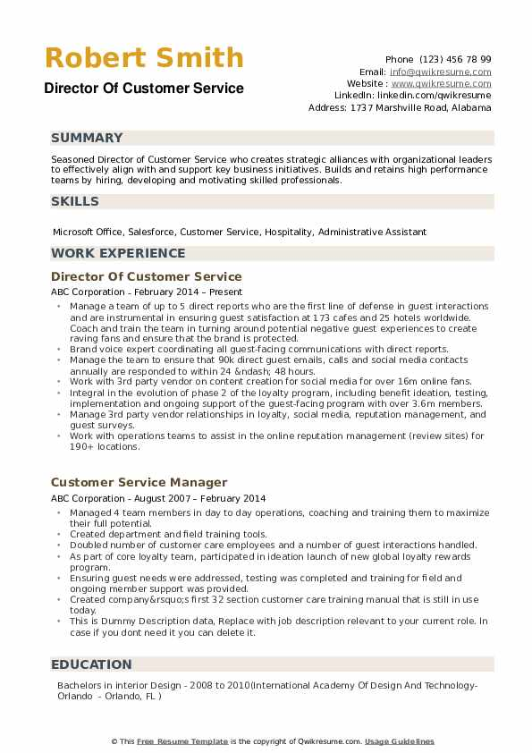 director of customer service resume samples qwikresume professional pdf things you can Resume Professional Customer Service Resume