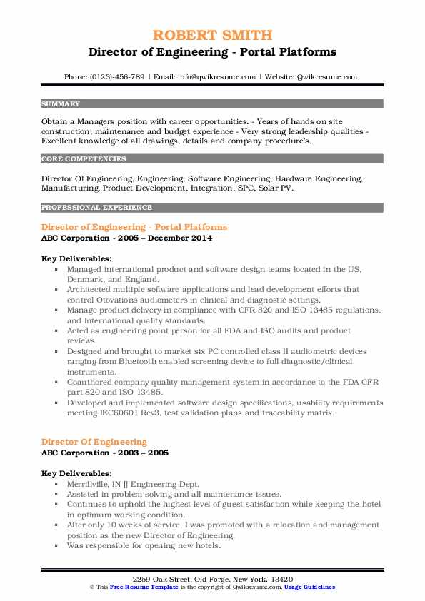 director of engineering resume samples qwikresume pdf objective for an administrative Resume Director Of Engineering Resume