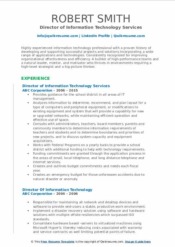 director of information technology resume samples qwikresume service pdf electrical Resume Information Technology Resume Service