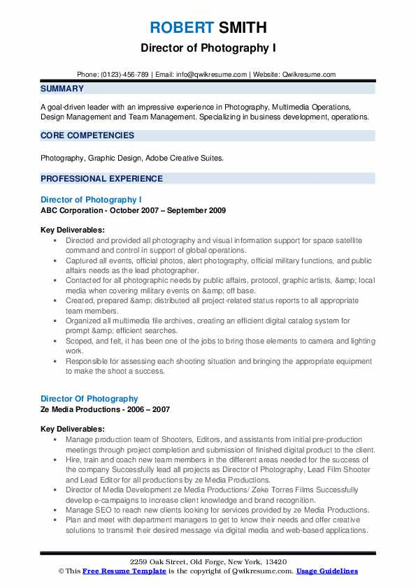 director of photography resume samples qwikresume pdf unc template now login art Resume Director Of Photography Resume