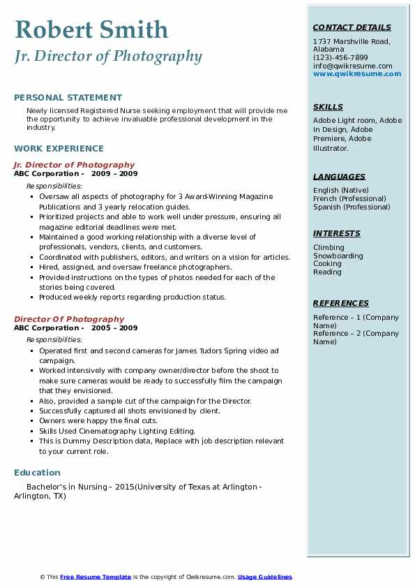 director of photography resume samples qwikresume pdf unc template pursuing degree Resume Director Of Photography Resume