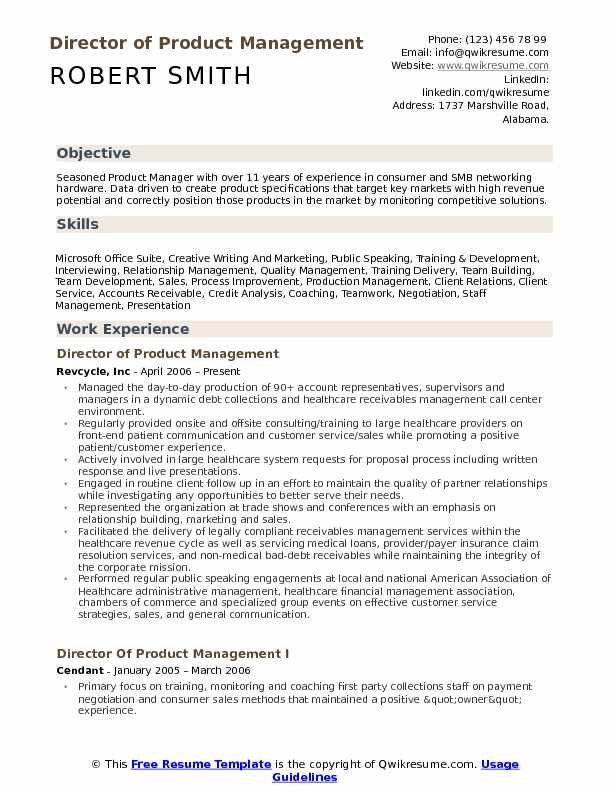 director of product management resume samples qwikresume template pdf boosters for Resume Product Management Resume Template