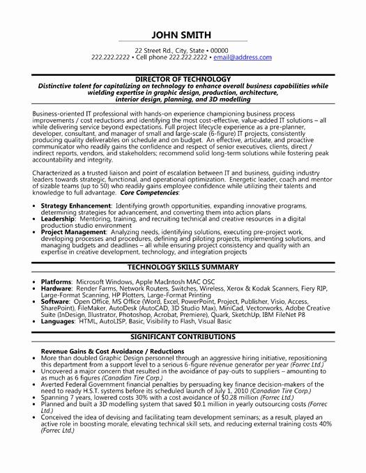 director of technology resume unique top executive templates samples template word Resume Filenet Administrator Resume