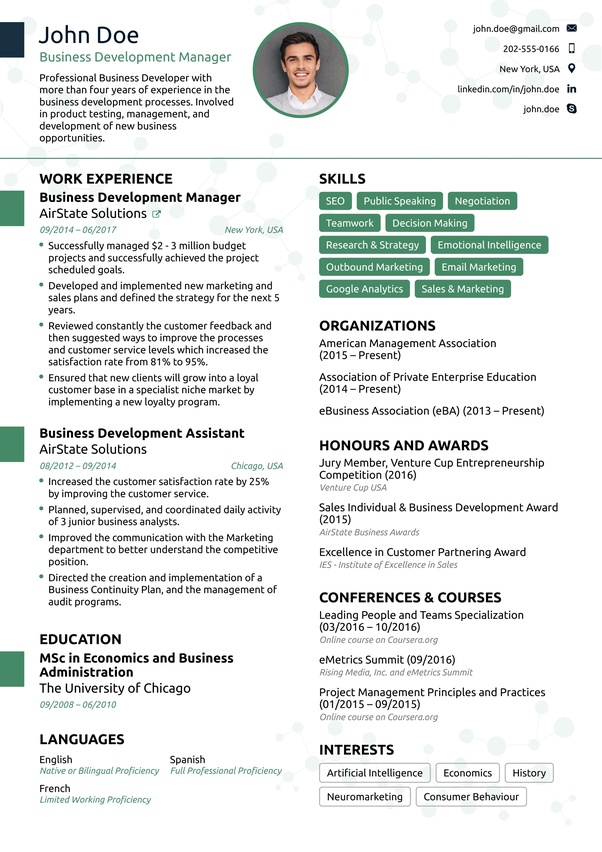 does an ideal one resume look like quora single examples financial reporting accountant Resume Single Page Resume Examples