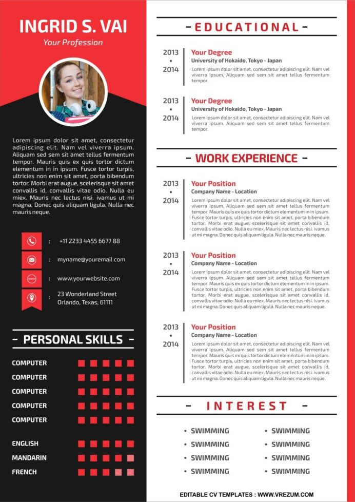 editable free cv templates for teachers template resume design your own electronic Resume Design Your Own Resume Template