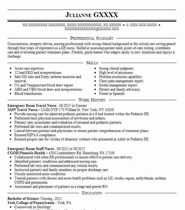 emergency room nurse resume sample watercolor template molly mckew medical skills for Resume Emergency Room Nurse Resume