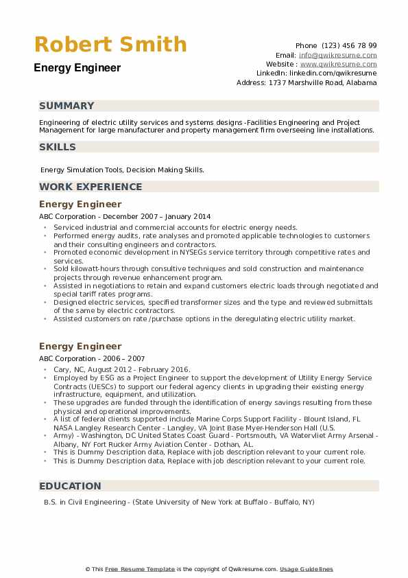energy engineer resume samples qwikresume sample for pdf fresher career objective revenue Resume Sample Resume For Energy Engineer