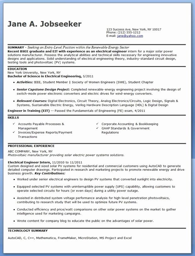 engineer in training resume awesome electrical sample pdf entry level re engineering Resume Sample Resume For Energy Engineer