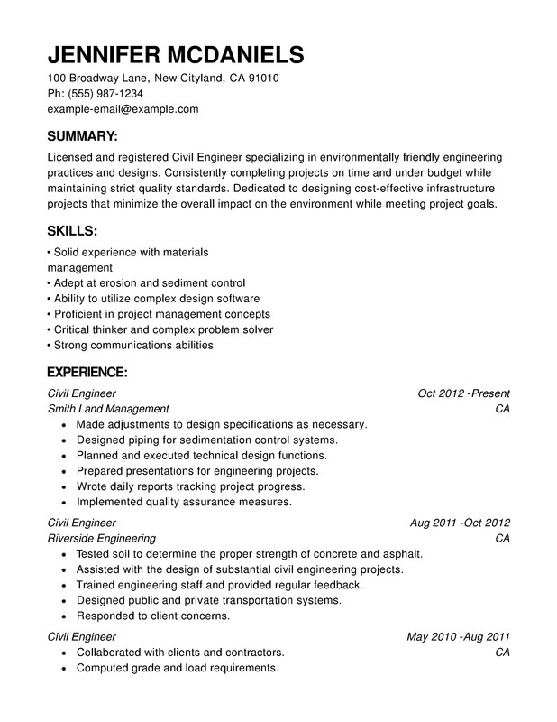 engineering chronological resume samples examples format templates help professional Resume Professional Chronological Resume Template