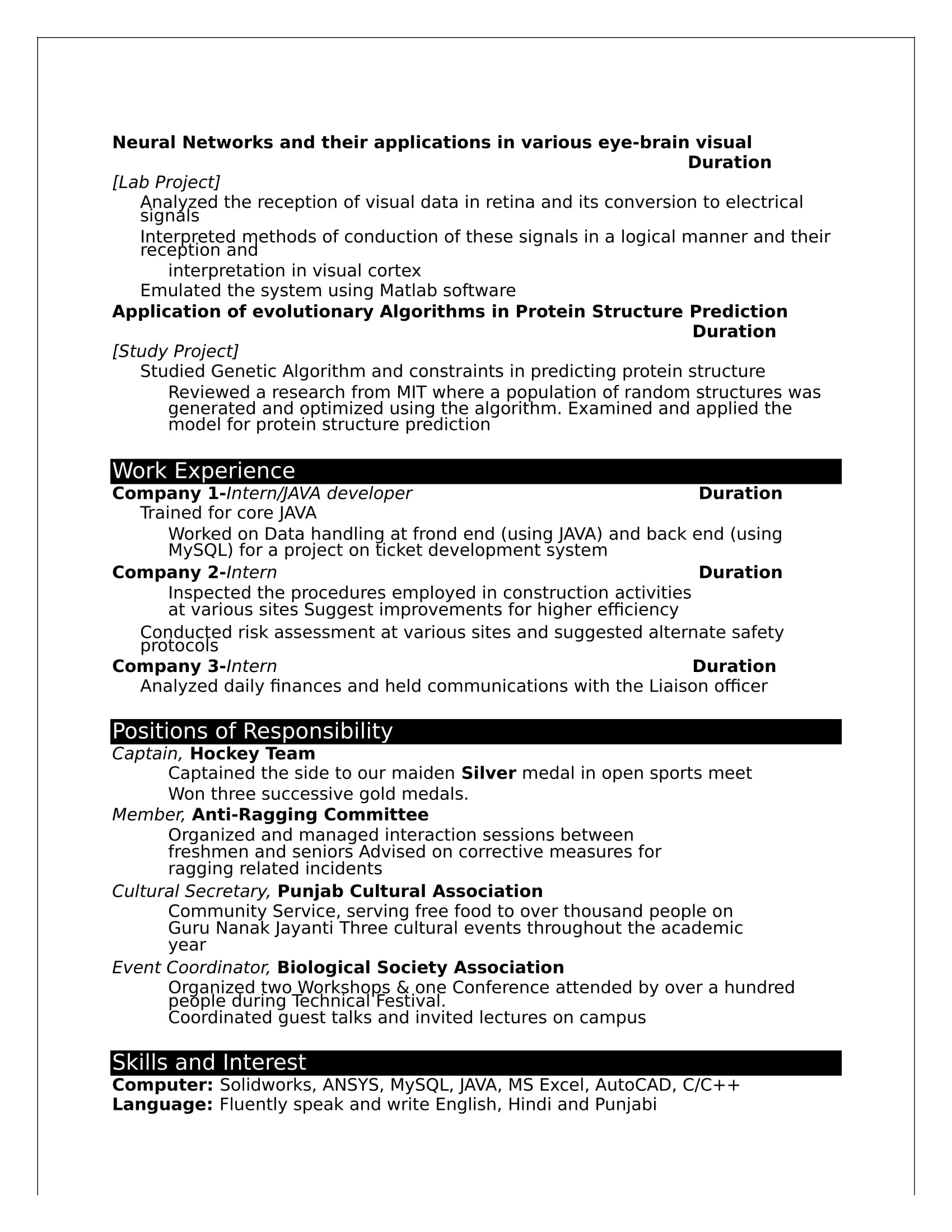 engineering fresher resume format in ms word best examples layout of for freshers aero Resume Layout Of Resume For Freshers