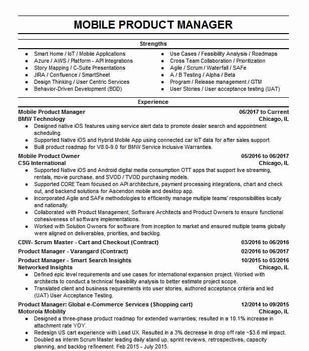 engineering manager resume example workday inc product writing great objective for Resume Mobile Product Manager Resume