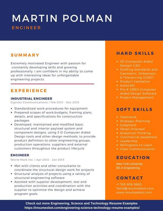 engineering resume samples and tips pdf resumes bot examples of hard skills for example Resume Examples Of Hard Skills For A Resume