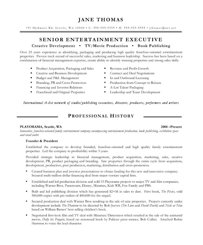 entertainment executive free resume samples blue sky resumes skills jane after relevant Resume Entertainment Skills Resume