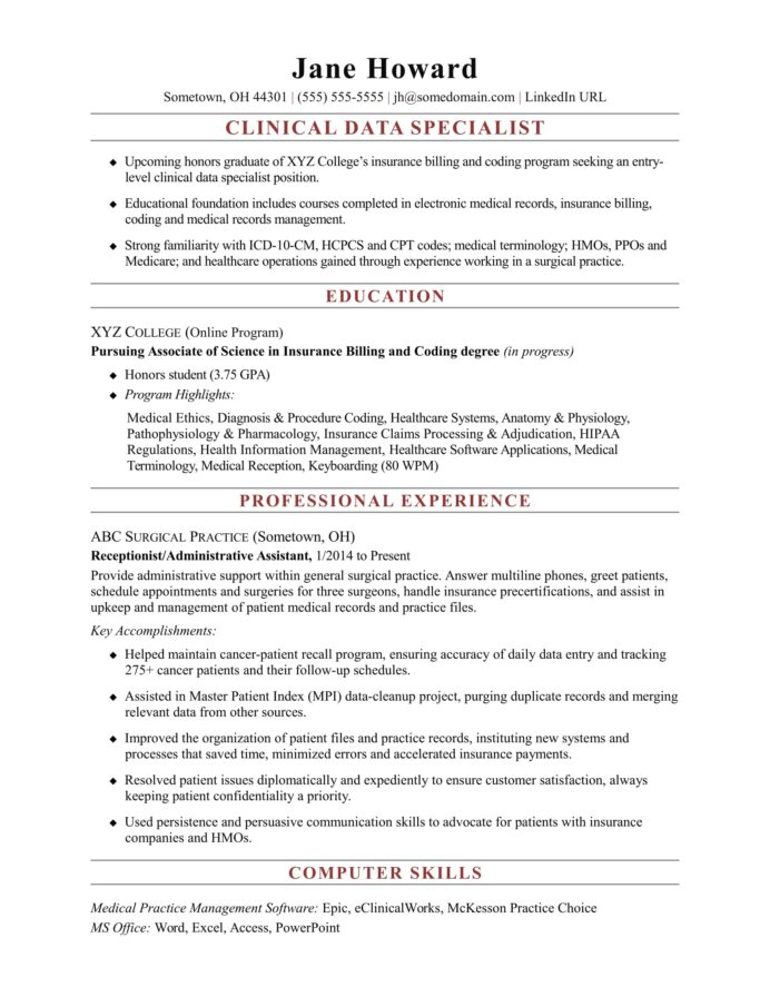 entry level clinical data specialist resume sample monster title abstractor database Resume Resume Title Examples For Entry Level
