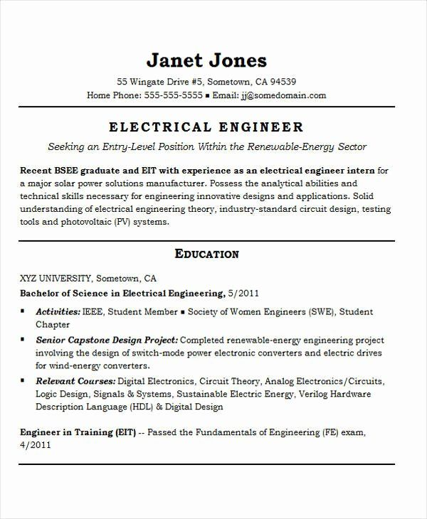 entry level electrical engineering resume awesome best templates pdf job samples engineer Resume Entry Level Electrical Engineer Resume
