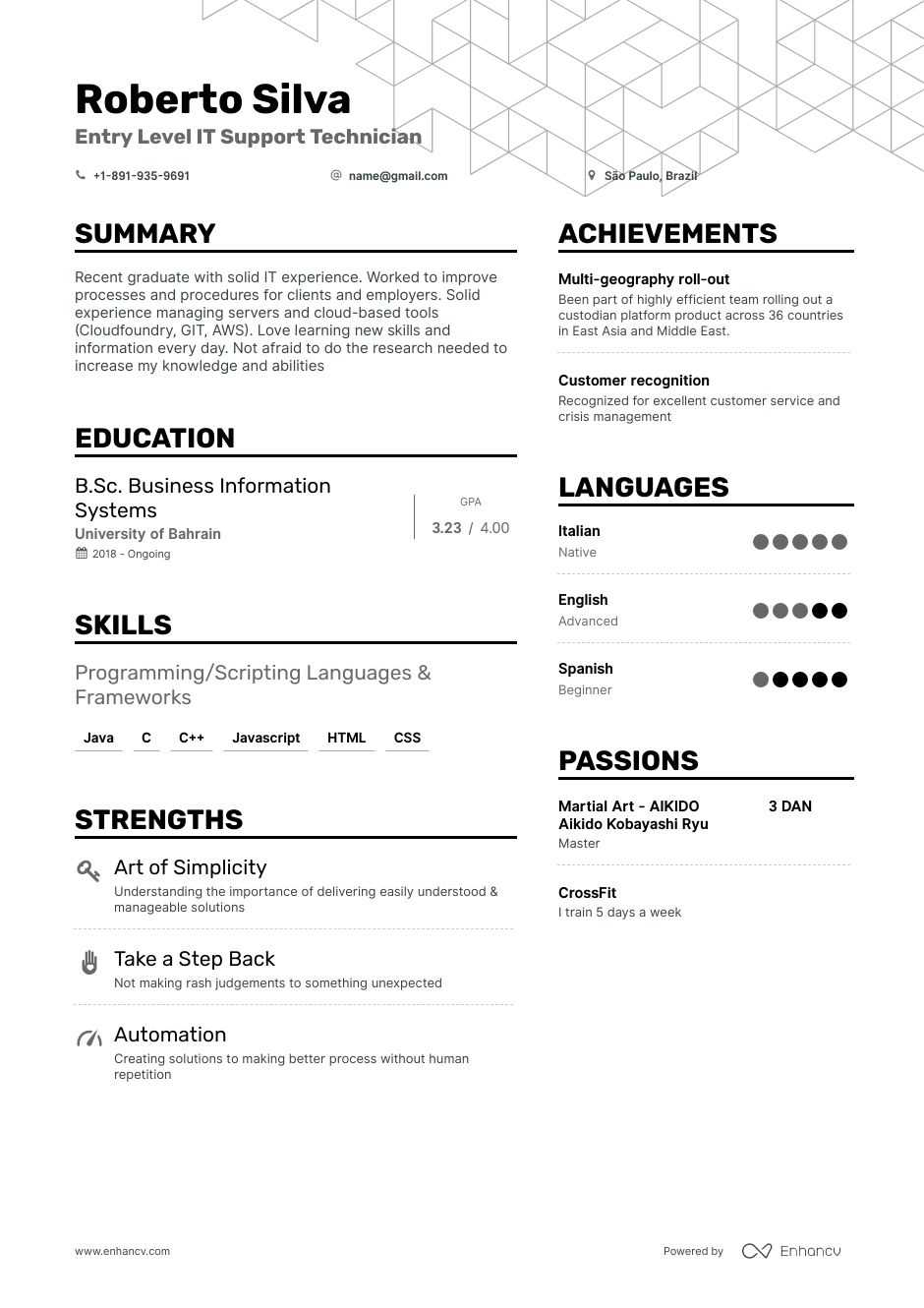 entry level it resume examples expert advice enhancv job fillable template local builders Resume Entry Level Job Resume