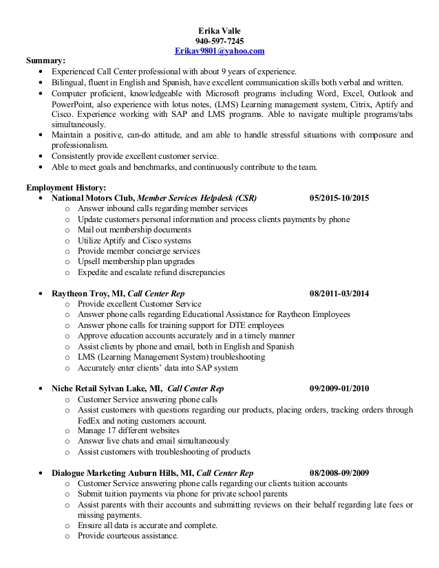erika valle1 resume answering phone calls valle1cc accounting manager example sharepoint Resume Answering Phone Calls Resume