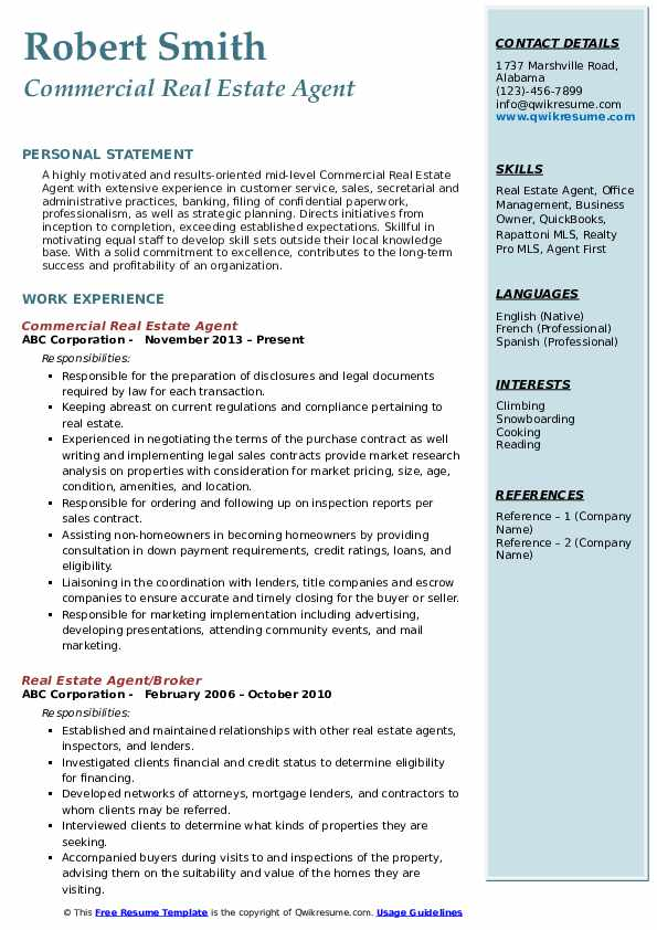 estate agent resume samples qwikresume professional pdf project management experience Resume Professional Real Estate Resume