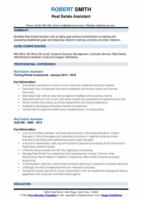 estate assistant resume samples qwikresume pdf academic for college good examples of Resume Real Estate Assistant Resume