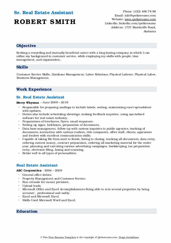 estate assistant resume samples qwikresume pdf industry good examples of summary for Resume Real Estate Assistant Resume