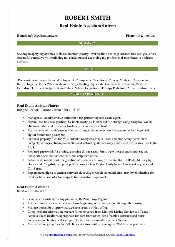 estate assistant resume samples qwikresume pdf leasing consultant summary work examples Resume Real Estate Assistant Resume