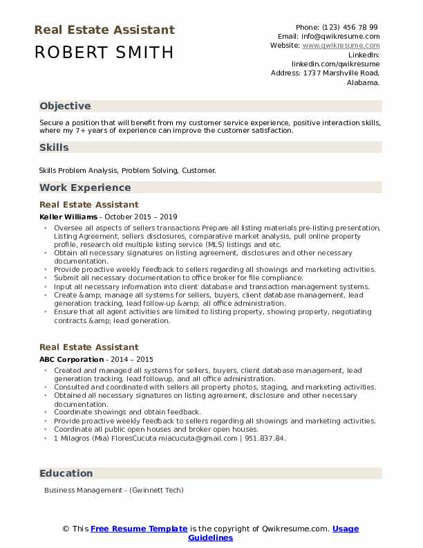 estate assistant resume samples qwikresume pdf work examples typography template for Resume Real Estate Assistant Resume