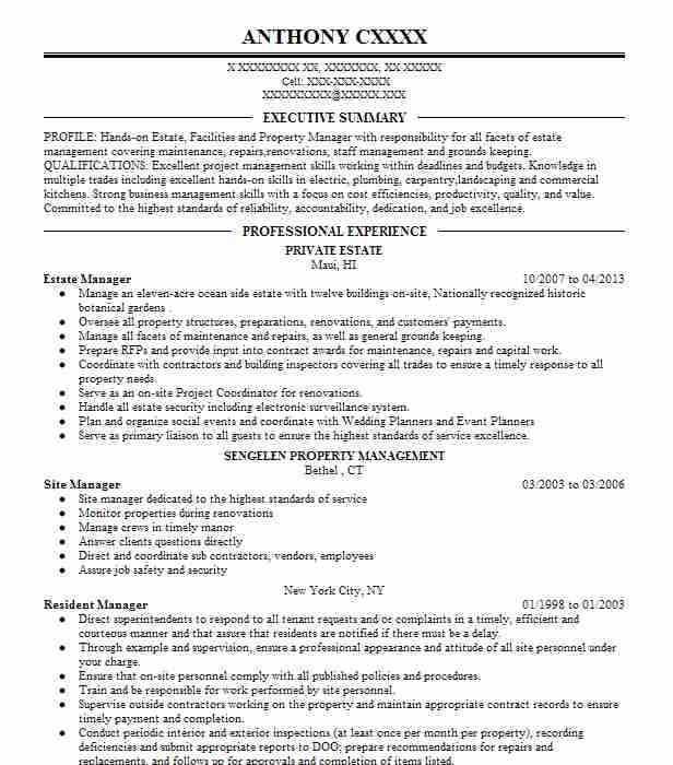 estate manager resume example private healdsburg can you put future job on your child Resume Private Estate Manager Resume