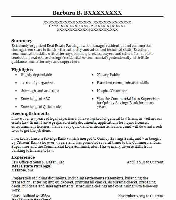 estate paralegal resume example cronan and shields llc effective title examples software Resume Real Estate Paralegal Resume