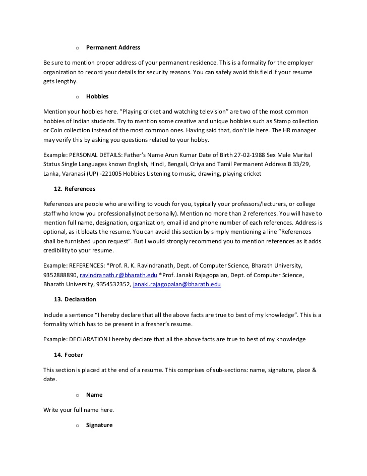 example resume hereby cricket player format the ultimate guide for freshers mainframe Resume Cricket Player Resume Format
