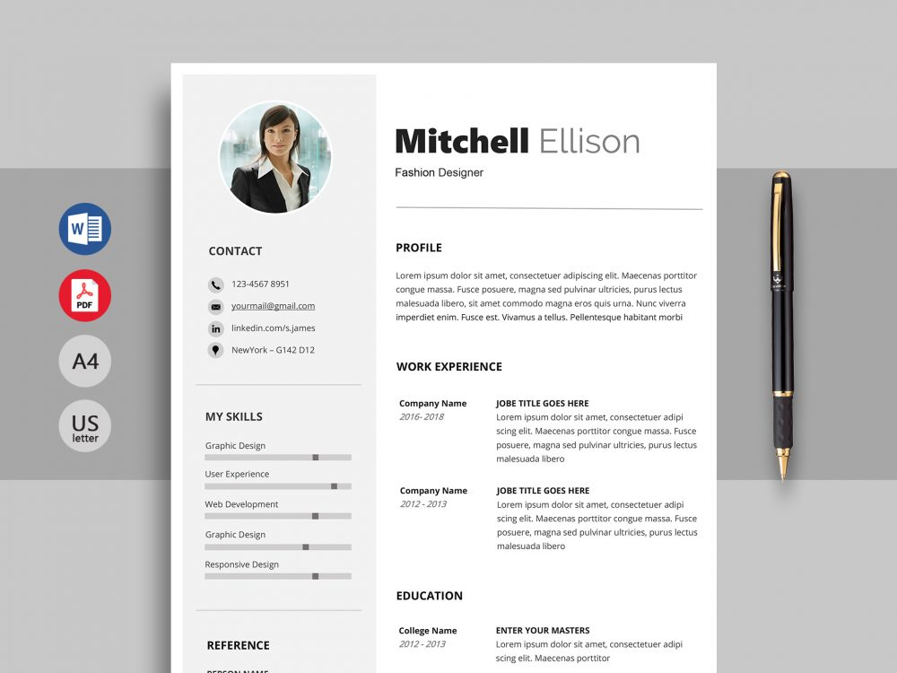 excel professional resume template word resumekraft 1000x750 production operator cover Resume Professional Resume Template