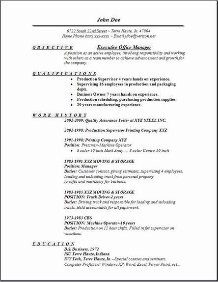 executive office manager resume occupational examples samples free edit with word Resume Objective On Resume For Office Manager