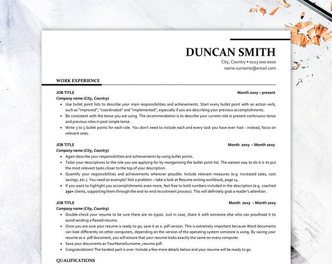 executive resume template ats friendly with icons etsy free word templates call center Resume Free Resume Templates Ats Friendly