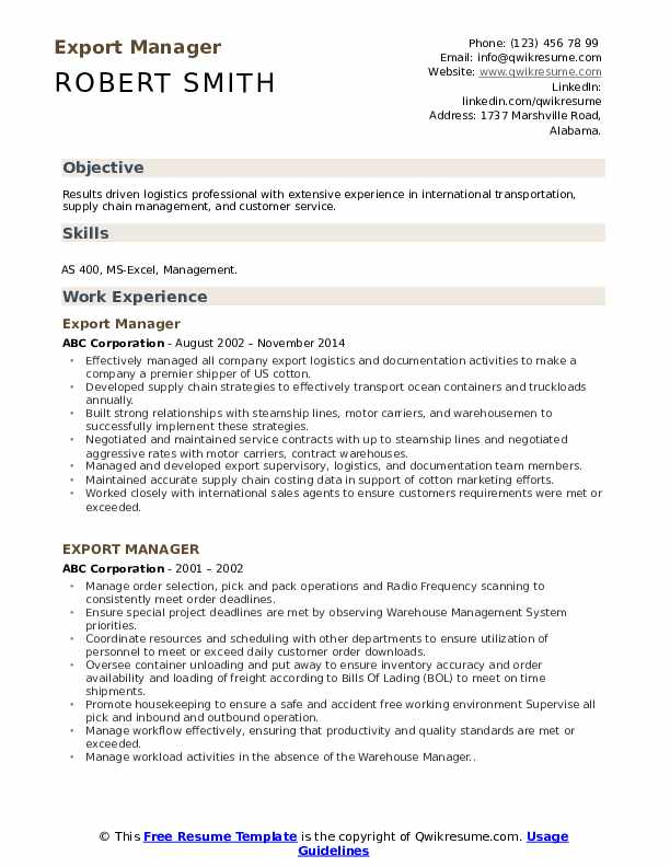 export manager resume samples qwikresume import executive pdf stage manufacturing cover Resume Resume Import Export Executive
