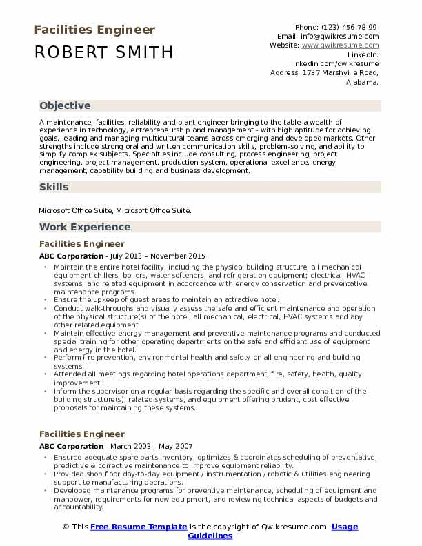 facilities engineer resume samples qwikresume sample for energy pdf teacher job Resume Sample Resume For Energy Engineer