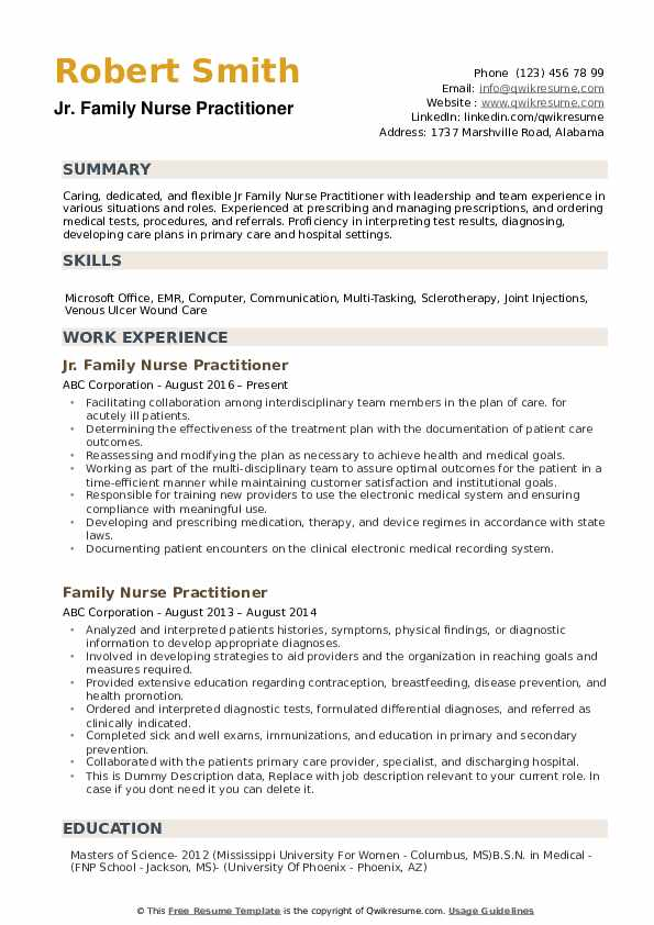 family nurse practitioner resume samples qwikresume new grad pdf business administration Resume New Grad Nurse Practitioner Resume