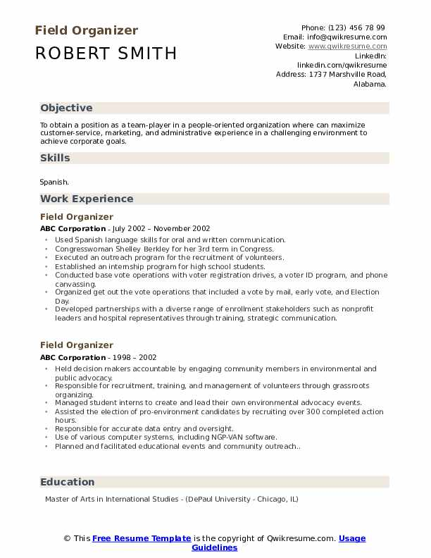 field organizer resume samples qwikresume political pdf examples of special skills for Resume Political Organizer Resume