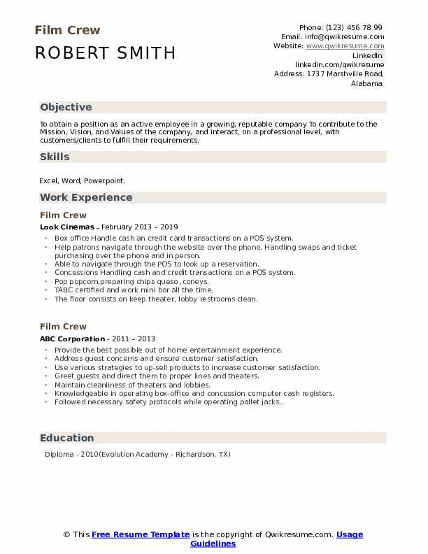 film crew resume samples qwikresume industry template pdf automotive parts manager format Resume Film Industry Resume Template