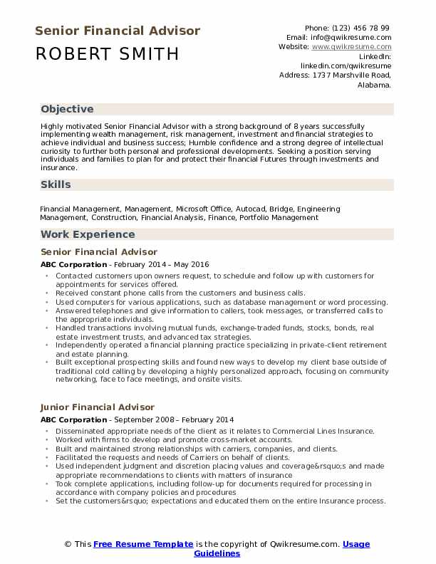 financial advisor resume samples qwikresume wealth management examples pdf verbs first Resume Wealth Management Resume Examples