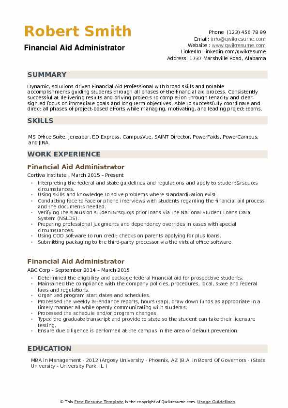 financial aid administrator resume samples qwikresume finance student sample pdf free Resume Finance Student Resume Sample