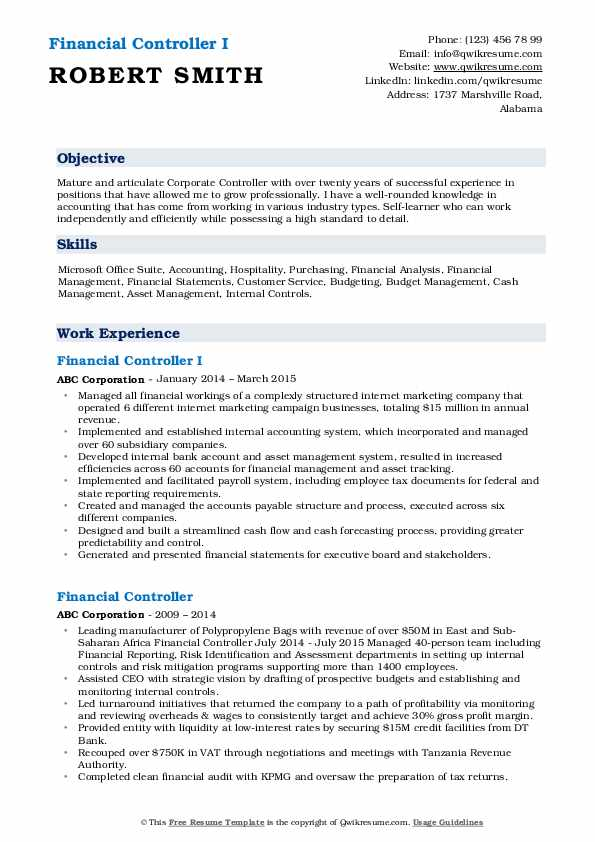 financial controller resume samples qwikresume summary pdf best communication skills for Resume Financial Controller Resume Summary
