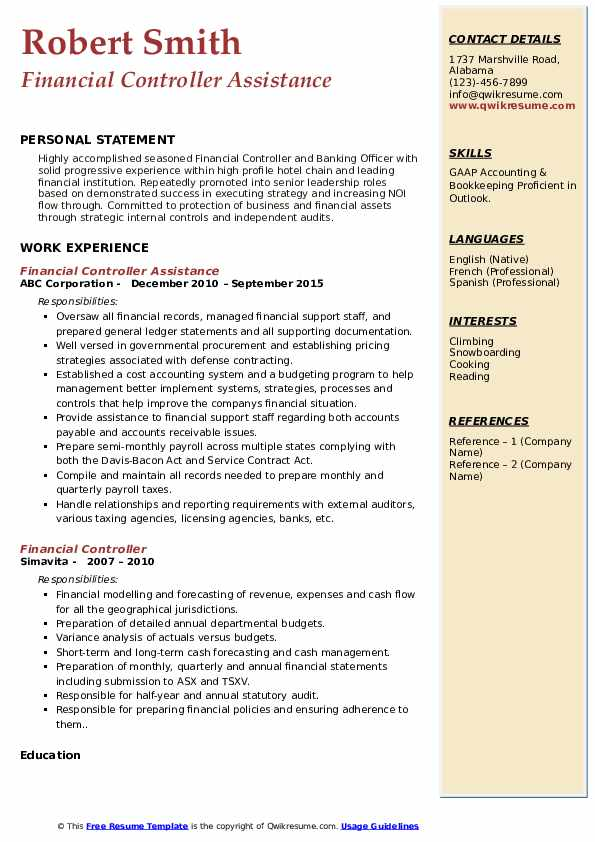 financial controller resume samples qwikresume summary pdf compliance associate good Resume Financial Controller Resume Summary
