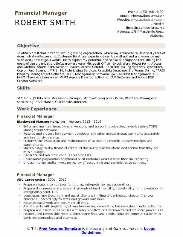 financial manager resume samples qwikresume best finance templates pdf shipping and Resume Best Finance Resume Templates