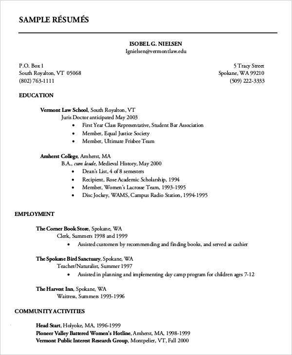 first resume templates pdf free premium for year student college actuary food safety Resume Resume For First Year Student