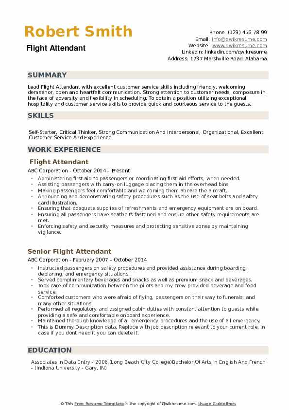 flight attendant resume samples qwikresume pdf the place personal care assistant sample Resume Flight Attendant Resume