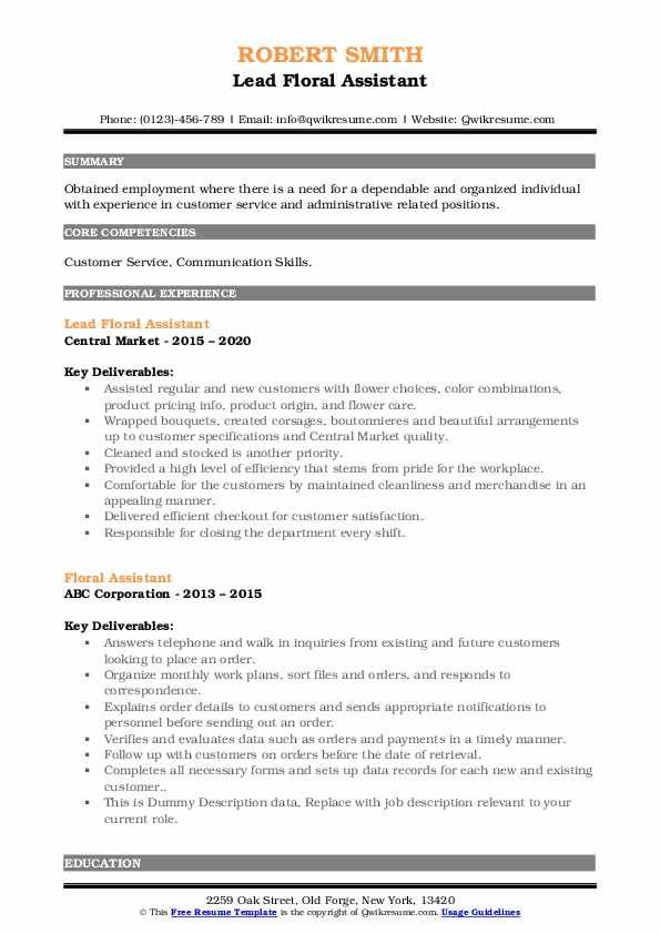 floral assistant resume samples qwikresume pdf sap portal consultant professional tips Resume Floral Assistant Resume
