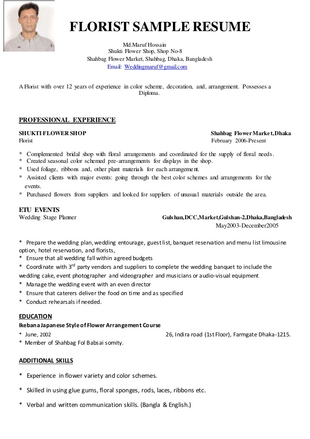 florist resume with no experience january floral assistant sample updating for write job Resume Floral Assistant Resume