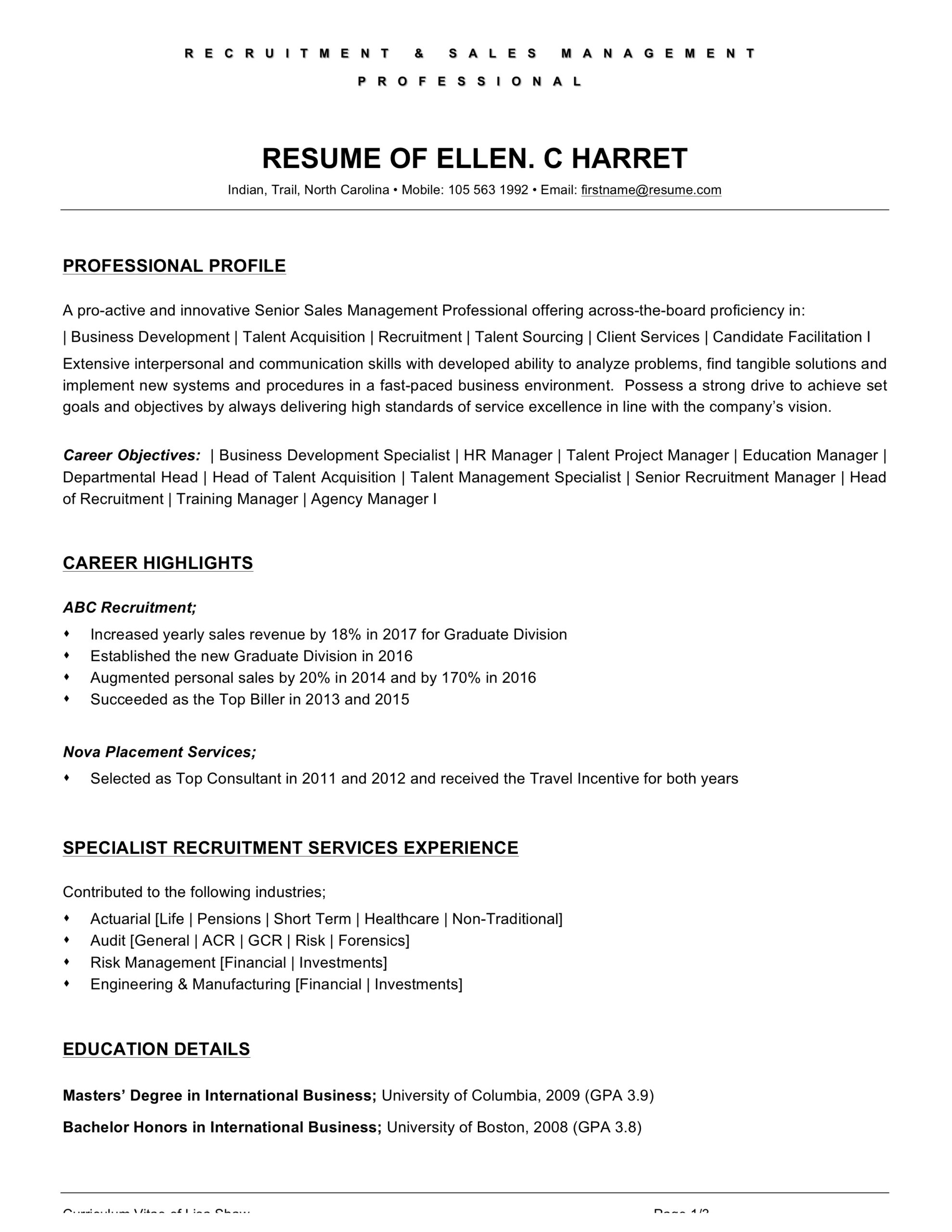 food and beverage attendant resume examples word pdf objective for healthcare workers Resume Resume Objective For Healthcare Workers